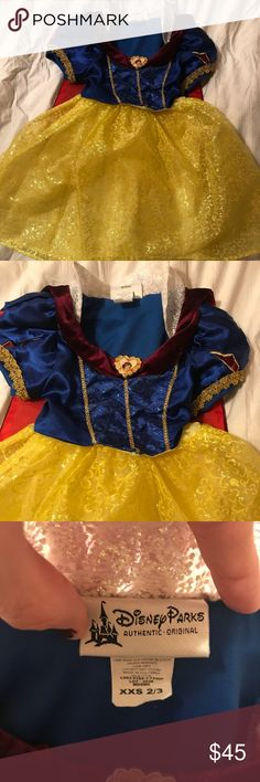 Snow White Disney Authentic Dress XXS 2/3 Disney Park Authentic Snow White dress Disney Dresses
