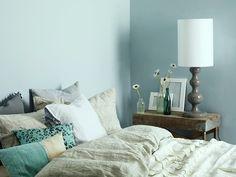 Mavi yatak odası #jotun #jotunturkiye #blue #mavi #bedroom #yatakodasi