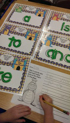This download includes 100 ready-to-print cute dragon mats with Fry's First 100 sight words. Just print, laminate, & place in a tub with some play dough and that's it! I've also included a student response sheet (4 to choose from) where student's can demonstrate some of the words they've learned.- Alma Almazan