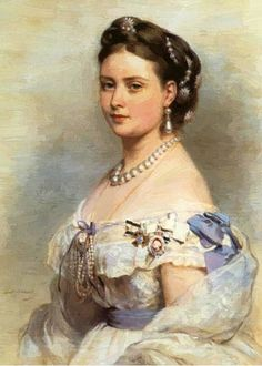 Princess Royal Victoria Adelaide Mary Louise UK by Franz Xaver Winterhalter, Wife of King Frederick III Prussia. Victoria Adelaide was Child of Queen Victoria UK & Prince Albert Saxe-Coburg & Gotha, Germany.