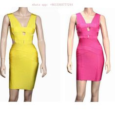 ==> [Free Shipping] Buy Best 2017 summer Women Runway Bandage Dress Bodycon Dress Yellow Spaghetti Strap Hollow Out Backless Celebrity Cocktail Party Dresses Online with LOWEST Price | 32418180788