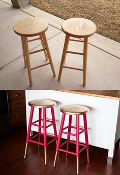 DIY painted stools