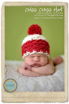 Christmas baby hat photo prop