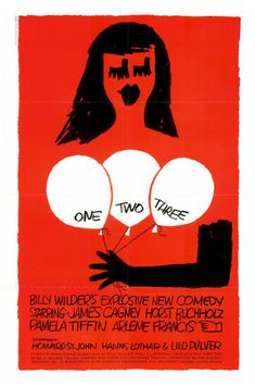 Saul Bass, poster artwork for Billy Wilder's movie One, Two Three, 1961. Source