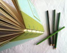 Edelweiss  vintage salvaged book sketchbook scrapbook by Shaprink