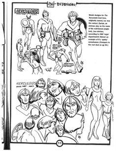 Cartoon Concept Design: Alex Toth Model Sheets -- Herculoids