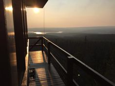 There's no doubt about it - the best place to stay in Laramie, Wyoming is the Spruce Mountain Fire Lookout Tower. This National Forest cabin is breathtaking Forest Cabin, Night Forest, Wyoming Cowboys, Lookout Tower, Forest Floor, Above The Clouds, Top Of The World, National Forest, Natural Wonders