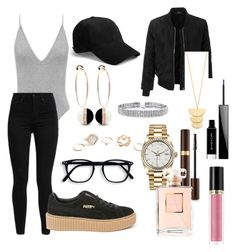 """""""Untitled #194"""" by sdesir on Polyvore featuring Levi's, Puma, rag & bone, Bebe, GUESS, LE3NO, Bling Jewelry, Gorjana, Rolex and Givenchy"""