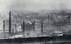 Photo of Mill Chimneys in Halifax, UK - for Kes Movie poster *Anthony Griffin 2834460 Halifax Yorkshire, Old Photos, Vintage Photos, Stockport Market, Industrial Architecture, Woolen Mills, Old Street, Industrial Photography, Historical Images