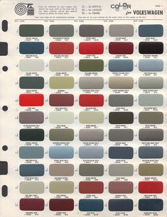 Paint Chips 1956 Volkswagen Beetle