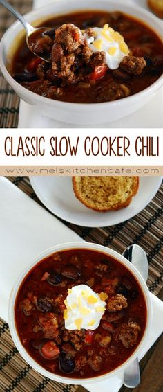 This classic slow cooker chili is so easy and delicious.