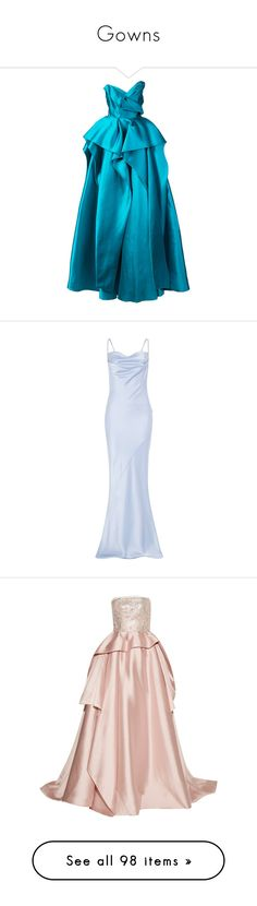 """""""Gowns"""" by giovanina-001 ❤ liked on Polyvore featuring dresses, gowns, maxi dress, long dress, unavailable, strapless maxi dress, long fitted dresses, summer dresses, blue ball gown and a line long dress"""