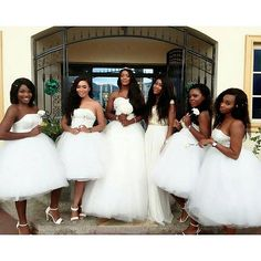 Well this is e gorgeous.  @ #wedding #bride #bridesmaids #white
