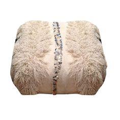 "Moroccan Wedding Blanket Pouf - Sara Kate Studios - 10% off with code ""somethingnice"""
