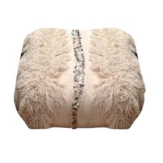 "Moroccan Wedding Blanket Pouf - Sara Kate Studios - 10% off with code ""somethingnice"""