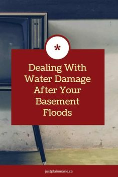 Basement water damage after flooding needs to be dealt with right away before mold and mildew grow. The process is easy but a bit long. Flooded Basement, Walkout Basement, Washing Machine Hose, Water Flood, Ice Dams, Water Damage Repair, Get Rid Of Mold, Flood Damage, Basement Inspiration