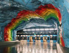 Stockholm metro, courtesy Instagram of citylab and alexdantoni