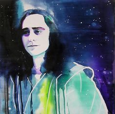 Loki Tom Hiddleston Original Painting by Kimberly Godfrey