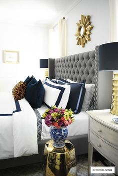 30 Stylish Bedroom Decorating (With Super Smart Tips and Tricks) Bedroom decoration is just one of the vital components in enhancing a room. Fall Bedroom Decor, Leopard Bedroom Decor, Grey And Gold Bedroom, Bedroom Inspo, Bedroom Inspiration, Stylish Bedroom, Beautiful Bedrooms, Romantic Bedroom Colors, Amazing Bedrooms