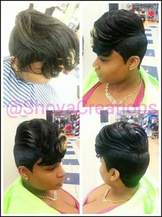 27 piece hairstyles Love It Short Quick Weave Hairstyles, 27 Piece Hairstyles, Dope Hairstyles, Short Black Hairstyles, Short Hair Cuts, Permed Hairstyles, Unique Hairstyles, Braided Hairstyles, Quick Weave Styles