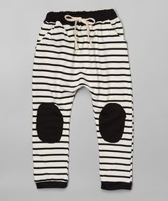 Look at this #zulilyfind! Black & White Stripe Jogger Pants - Toddler & Kids by Leighton Alexander #zulilyfinds