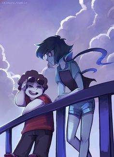 Steven and Lapis being summer buddies c: