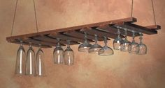 Wine glass holder for above the bar. :)