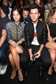 Milan Fashion Week's Front Row: Leigh Lezark and Geordon Nicol of The Misshapes at the DSquared2 spring 2015 show on Sept. 18.