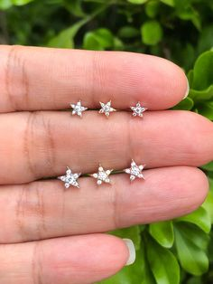 Star CZ  Cartilage Stud, Star Helix Stud, Star Tragus Earring, CZ Star Cartilage, Tiny Star Stud Earrings, Star Lobe Piercing by PiercingRoomByJay on Etsy Cartilage Stud, Lobe Piercing, Cartilage Earrings, Baby Earrings, Star Earrings, Nose Jewelry, Jewellery, Tiny Star, Rose Gold Plates