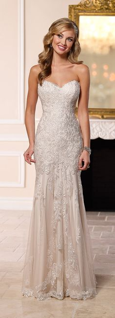 Stella York strapless lace mermaid wedding dress 2016