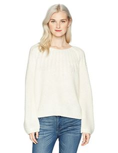 Roxy Womens Winter Mood Crew Neck Sweater Marshmallow S *** You can find out more details at the link of the image. (This is an affiliate link)