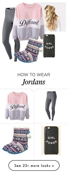 """Jordan wants Netflix!"" by marley-downey on Polyvore featuring NIKE, women's clothing, women, female, woman, misses and juniors"