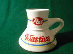 VINTAGE 80's  POST TOASTIES travel coffee cup  NEVER used