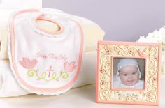 Pink 'Bless This Baby' Frame & Bib by Grasslands Road #zulily #zulilyfinds #GrasslandsRoad #Baby #Girl Great Baby Shower Gift Idea #GiftBoxed #BlessedNewArrivals #Memory #Memorabilia #Ceramic #Fabric