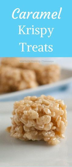 Caramel krispy treats are unbelievably delicious. You won't be able to just eat one. Their mouthwatering, caramel-y goodness is irresistible! via @https://www.pinterest.com/mindeescooking/