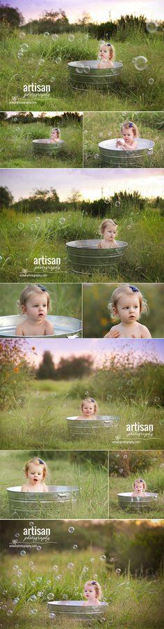 ArtisanPhotography.com bubble bath photoshoot. Carlsbad family photographer. California.