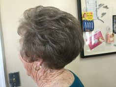 Stacked bob with layers by The Hair Salon. Great style for older clients Stacked Bobs, Layered Bobs, Older Women Hairstyles, Salons, Layers, Dreadlocks, Hair Styles, Beauty, Layering
