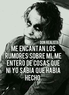 Joker Frases, Joker Quotes, Smart Quotes, Best Quotes, Heath Ledger Joker, Quotes En Espanol, Albert Einstein Quotes, Wife Quotes, Pretty Quotes