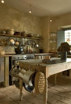 Kitchen - if we went straw-bale, walls would look like this.