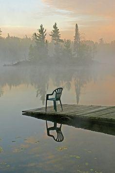 Dawn on the lake, Minnesota - imagine having your morning coffee here...