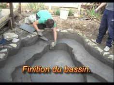 Construire bassin de jardin avec liner - YouTube