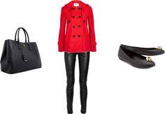 """casaco vermelho"" by amandarosati on Polyvore"