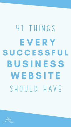 Find out the 41 things every successful business website should have by Ali Rand. Also get your free list with bonus items!