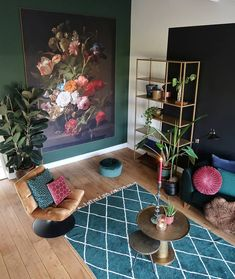 Living Room Green, Living Room Decor, Decoration, Inspiration, House Ideas, Home Decor, Instagram, Fashion, Decoration Home