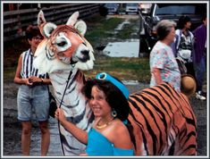 llama dressed up like a tiger. hows that for confusing?!