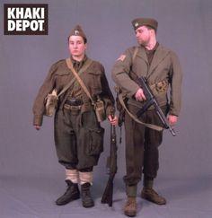 OSS Greek-American officer and a Greek ELAS female guerilla aide reenact photo