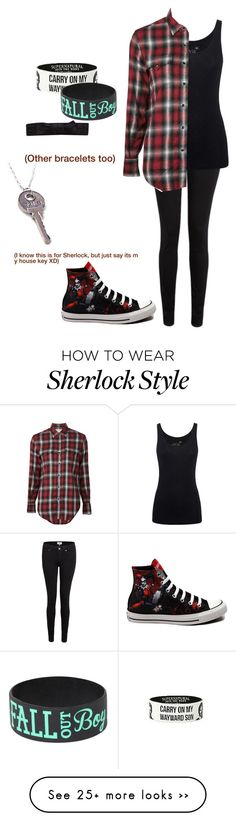 """""""school outfit for tomorrow"""" by breemanor on Polyvore featuring Paige Denim, Juvia, Yves Saint Laurent, Converse and France Luxe"""