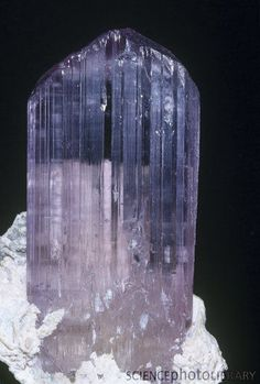 <3 <3  Spodumene or Kunzite, an ore of Lithium :: Credit: Ken Lucas Visuals Unlimited / Science Photo Library--