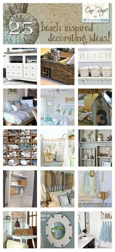 DIY:: Beautiful Beach Inspired #DIY Decor Ideas for your Home -I Love These ! So many fabulous Spring/Summer Budget Decor -Perfect Update Projects! by @Mandy Bryant Bryant Bryant Bryant Bryant Bryant Dewey Generations One