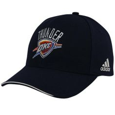 8f276724e6b7d adidas Oklahoma City Thunder Navy Blue Basic Logo Adjustable Hat by adidas.   19.95. Quality